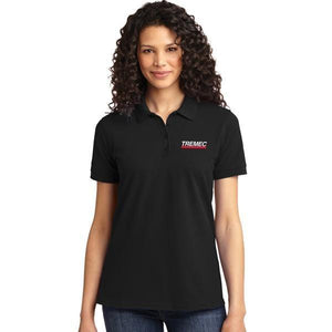 Ladies Black Polo with TREMEC logo on left chest