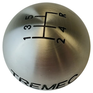Brushed Aluminum Shift Ball: 5-Speed or 6-Speed