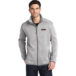 Men's Full-Zip Fleece Jacket (Heather Gray)