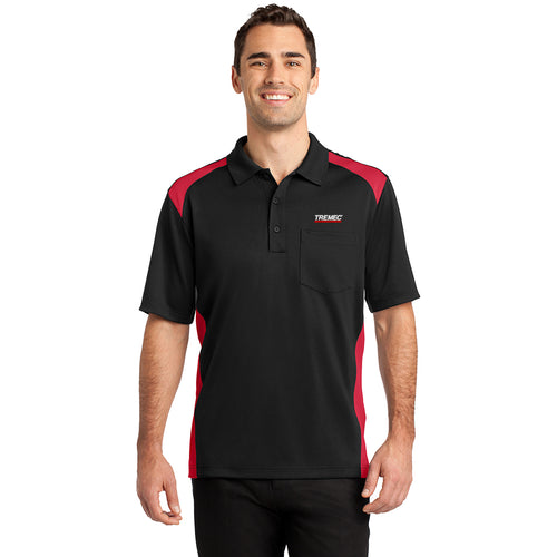 Men's Two-Way Colorblock Pocket Polo