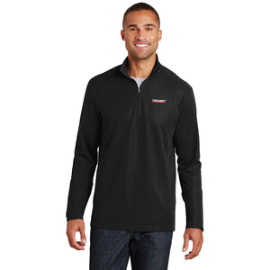 Men's Pinpoint Mesh Pullover with ½-Zip