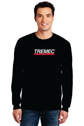Men's Long-Sleeve T-Shirt with Large Logo (Black)