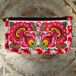 Floral Fringed Clutch