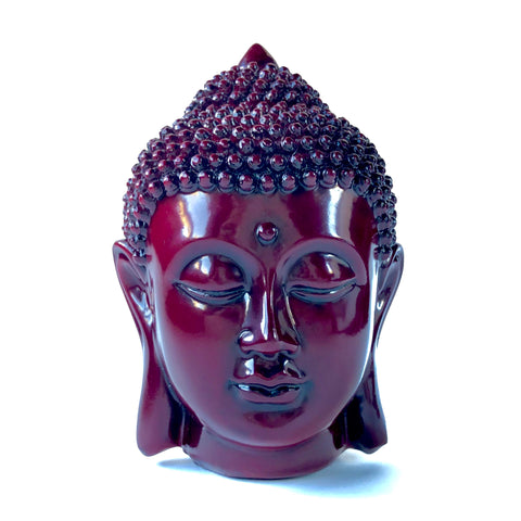 Red Buddha Head Statue