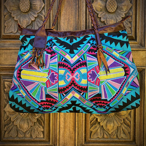 Blue Tribal Shoulder Bag