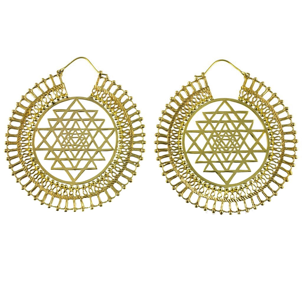 Sri Yantra Earrings