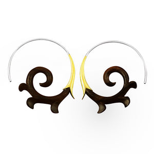 Spiral Horn Earrings