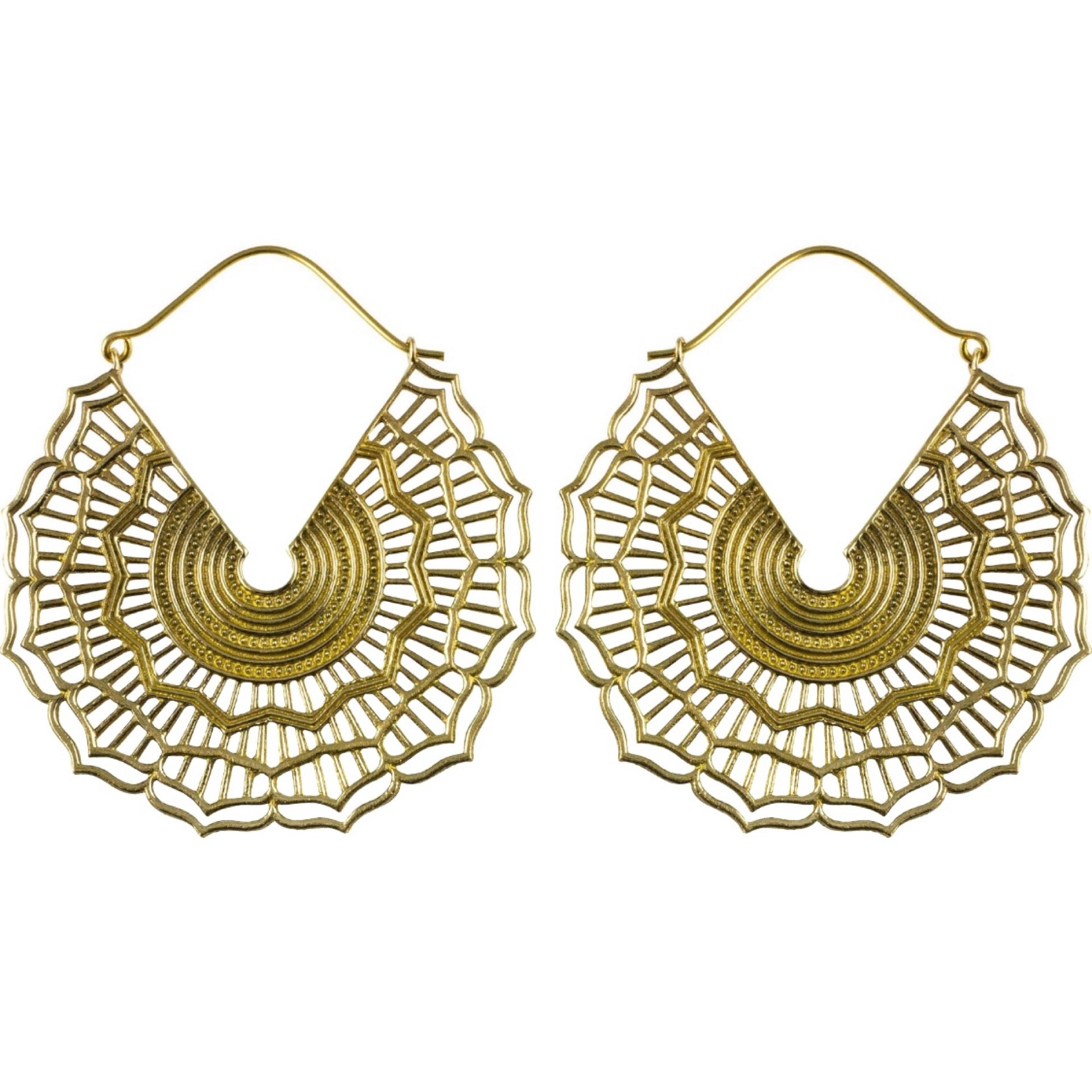 Sol Brass Earrings