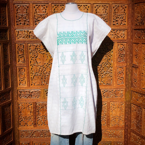 White Huipil Dress