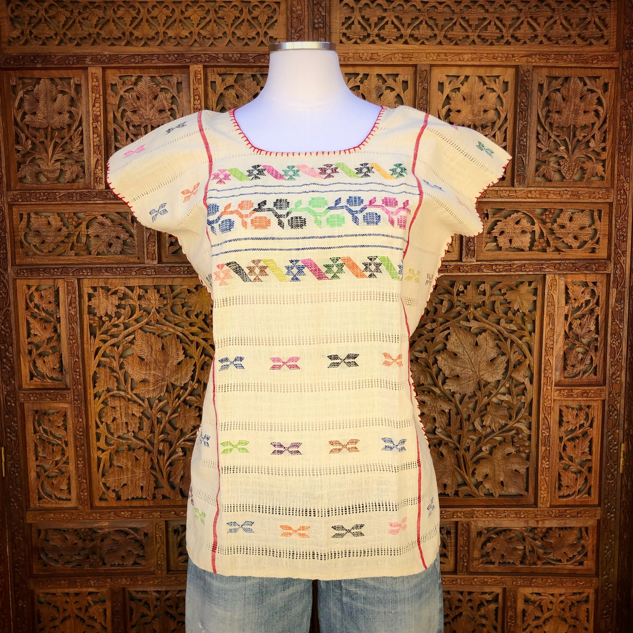 Ivory Huipil Blouse