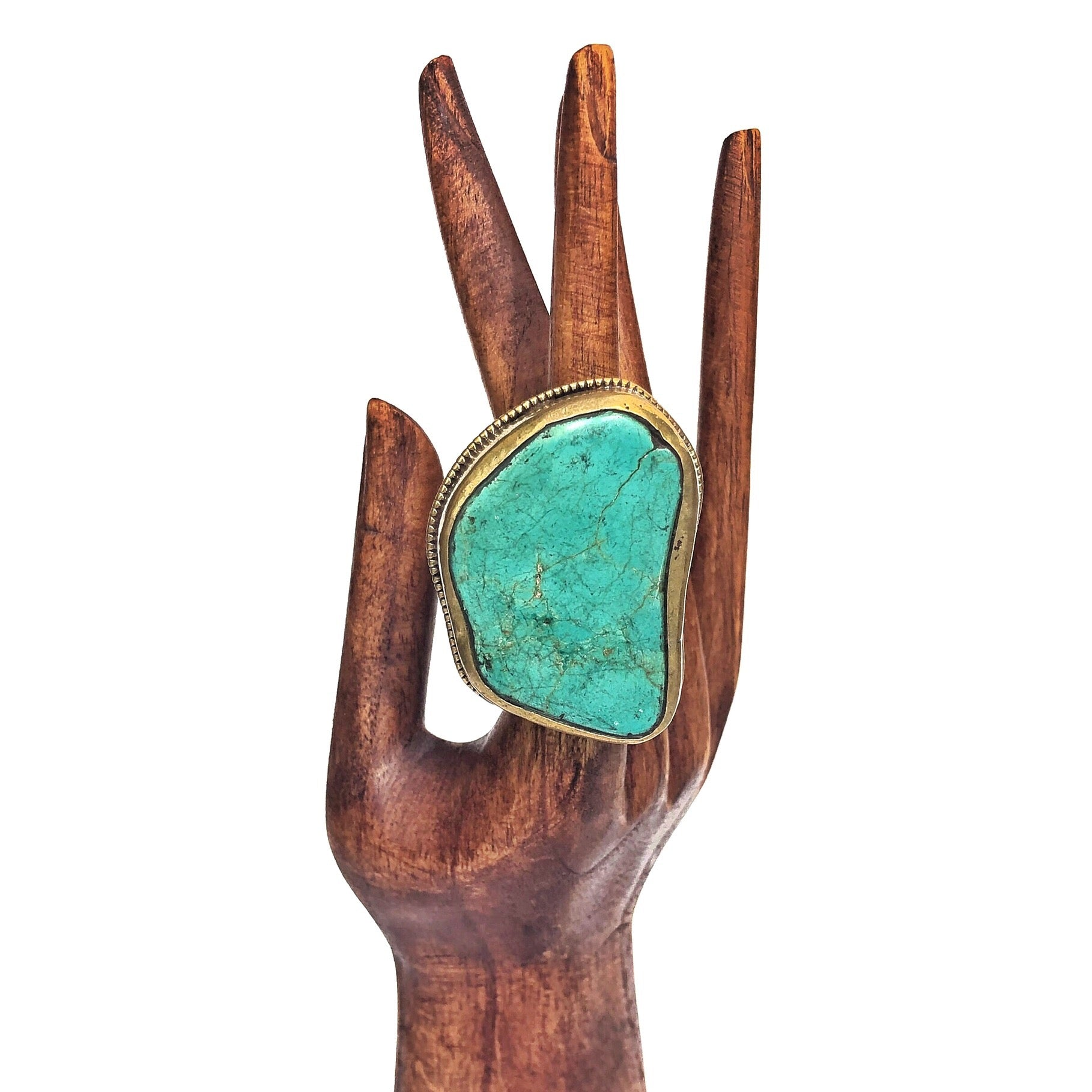 Turquoise Boulder Ring for your bohemian gypsy soul