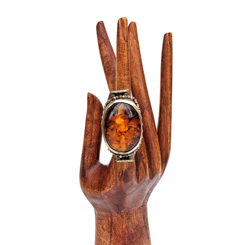 Amber Nepalese Ring for your bohemian gypsy soul