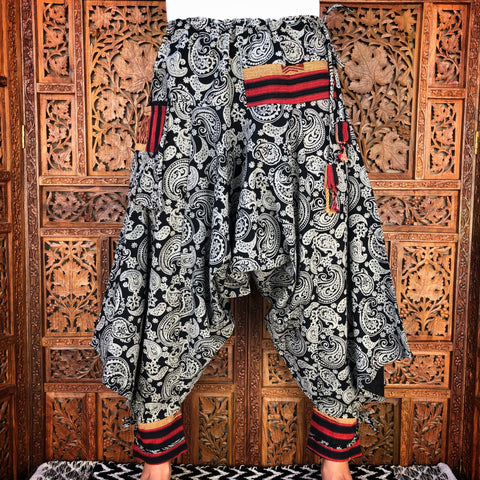 Paisley Draw String Harem Pants
