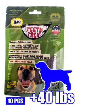 12 OZ - TEETH TREAT LARGE, 10 PCS