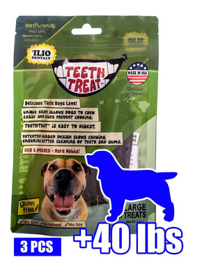 4 OZ - TEETH TREAT LARGE, 3 PCS