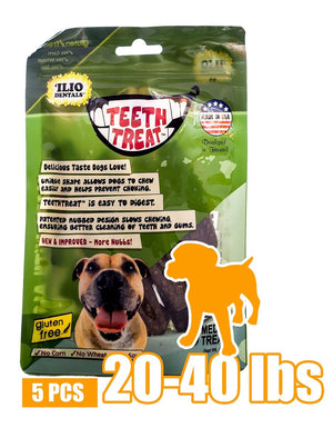 4 OZ - TEETH TREAT MEDIUM, 5 PCS