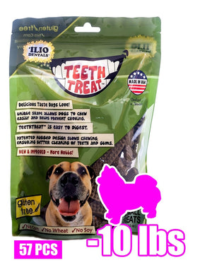 12 OZ - TEETH TREAT X-SMALL, 57 PCS