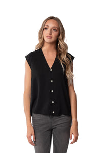 Arabella Sleeveless Button Up