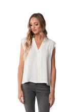 Load image into Gallery viewer, Arabella Sleeveless Button Up