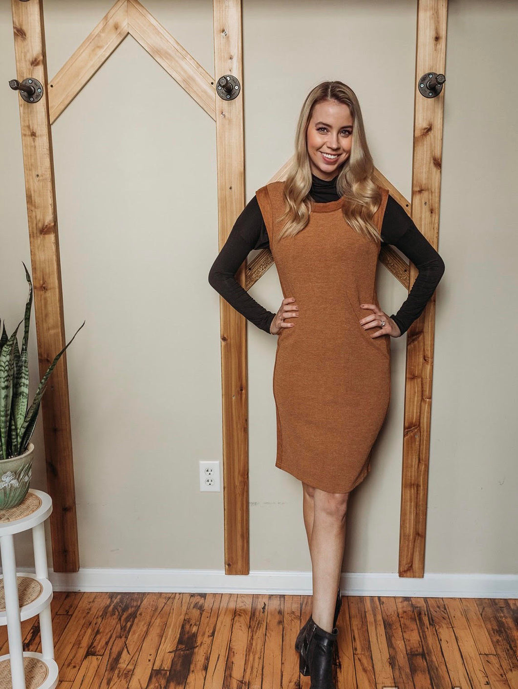 Suede Sided Dress