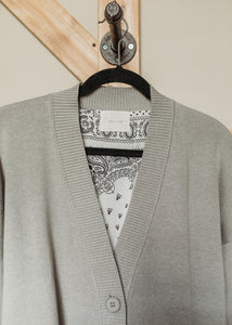 Paisly Lined Cardigan
