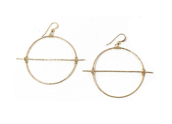 Horizontal Bar Earrings