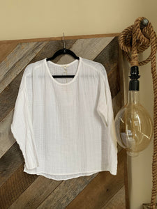 Long Sleeve Gauze Top