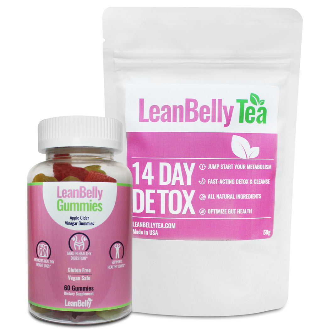 LeanBelly Tea 14 Day Detox & LeanBelly Gummies Combo
