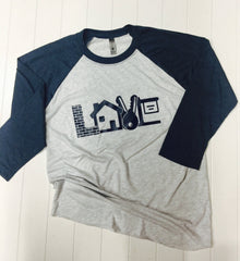 Realty Love, Realtor Baseball Tee, Real Estate Tee, Ladies Baseball Tee, Ladies Raglan