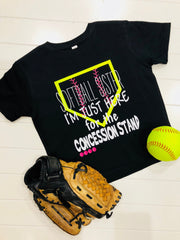Softball Sister T-Shirt, Softball Sis, Softball, Concession Stand Tee