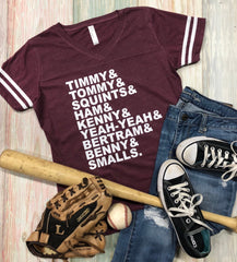 Sandlot Names, Sandlot Movie Tee, Baseball Movie Tee, Baseball, Vintage Tee, Adult or Youth Sizes Available