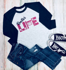 Realtor Life, Realtor Baseball Tee, Real Estate Tee, Ladies Baseball Tee, Ladies Raglan