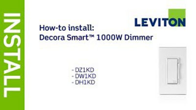 Leviton Presents: How to Install Decora Smart 1000W Dimmer: DZ1KD, DW1KD, DH1KD
