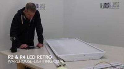 How to Retrofit Troffers with LED Magnetic Strip Retrofit kits