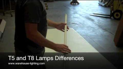 Difference Between T5 & T8 Light Bulbs