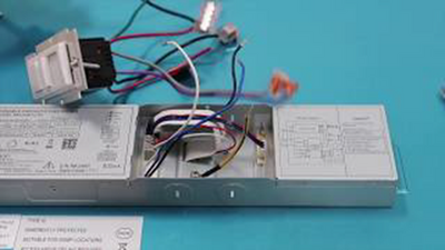 How to Wire a LED Panel Lighting Fixture with Emergency Battery Back Up