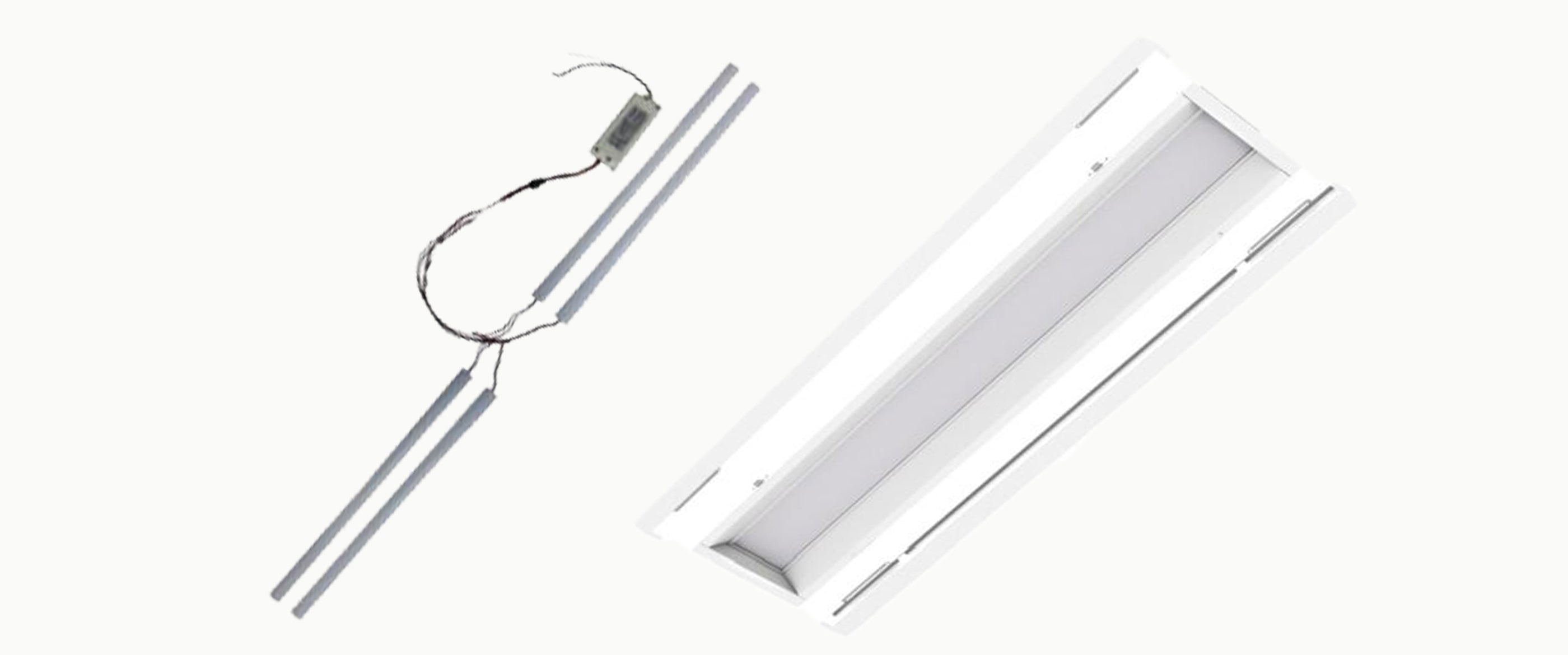 1 x 4 LED Troffer / Recessed Retrofit Lighting Kits