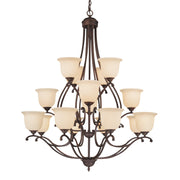 Millennium Lightings Courtney Lakes Chandelier Offered in Rubbed Bronze finish, Item Number 1016-RBZ