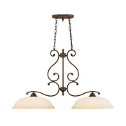 Millennium Lightings Courtney Lakes Island Offered in Rubbed Bronze finish, Item Number 1022-RBZ
