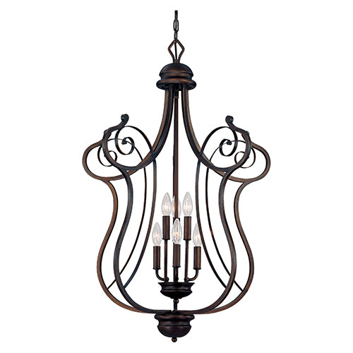 Millennium Lightings Chateau Pendant Offered In Rubbed Bronze Finish