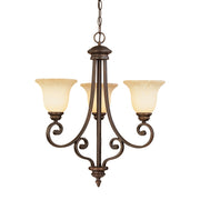 Millennium Lightings Oxford Chandelier Offered in Rubbed Bronze finish, Item Number 1203-RBZ  - Image #1