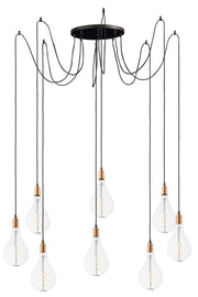 Early Electric 8-Light Pendant with A50 LED Bulbs  - Image #1