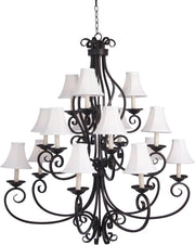 Manor 15-Light Chandelier with Shades  - Image #1