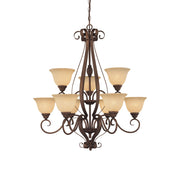 Millennium Lightings Auburn Chandelier Offered in Rubbed Bronze finish, Item Number 1259-RBZ
