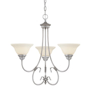 Millennium Lighting Fulton Chandelier, Rubbed Silver
