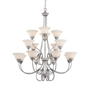 Millennium Lightings Fulton Chandelier Offered in Rubbed Silver finish, Item Number 1366-RS