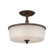 Millennium Lightings Dalton Semi-Flush Offered in Rubbed Bronze finish, Item Number 1502-RBZ