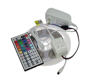 16.4 Ft RGB Color Changing Kit with LED Flexible Strip, 44 key Controller + Remote and 12 Volt 4 Amp Power  - Image #1