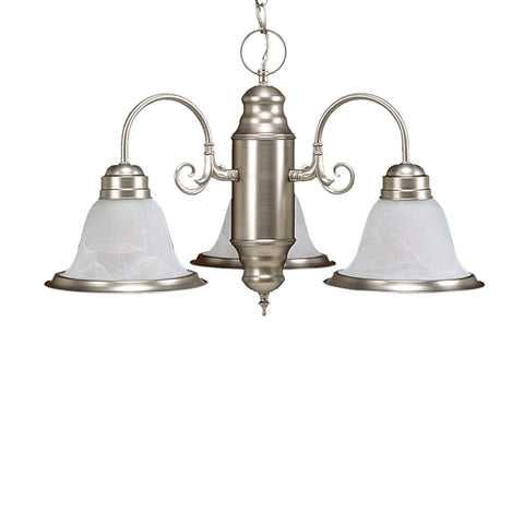 Millennium Lighting Chandelier Offered in Satin Nickel or Bronze finish