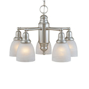 Millennium Lightings Chandelier Offered in Satin Nickel finish, Item Number 1725-SN